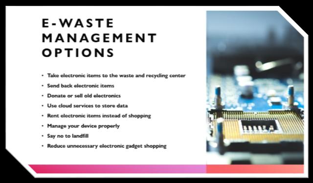 E-waste Management Options